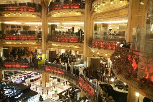 Galeries Lafayette - Paris department store - Inside balconies